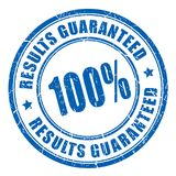 Results guaranteed vector stamp. Isolated on white background Stock Photo