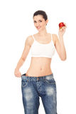 Results of healthy diet, concept Stock Photo
