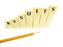 Results increase graph concept Stock Photos