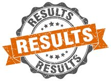 Results stamp. sign. seal Stock Photo