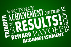 Results Outcome Rewards Goal Word Collage royalty free illustration