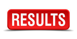 Results red 3d square button Royalty Free Stock Images