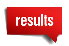 Results red paper speech bubble Royalty Free Stock Photo