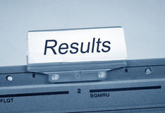 Results Register Folder Index Royalty Free Stock Photos