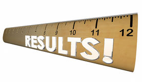 Results Ruler Measure Output Word Stock Image