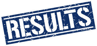 Results square grunge stamp Royalty Free Stock Photo