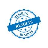Results stamp illustration. Results blue stamp seal illustration design Stock Photo