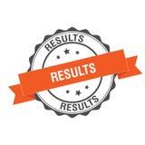 Results stamp illustration. Results stamp seal illustration design Stock Photo