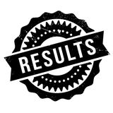 Results stamp rubber grunge Stock Photography