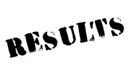 Results stamp rubber grunge Royalty Free Stock Image