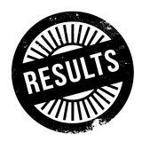 Results stamp rubber grunge Royalty Free Stock Photo