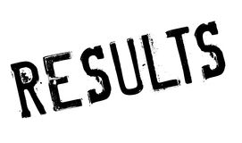 Results stamp rubber grunge Stock Photos