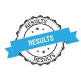 Results stamp illustration. Results stamp seal illustration design Royalty Free Stock Images