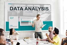 Results Statistic Research Data Analysis Concept. Business team are discussing about data analysis Stock Photo
