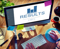 Results Summary Progress Chart Concept Royalty Free Stock Photography
