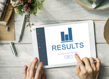 Results Summary Progress Chart Concept Royalty Free Stock Photos