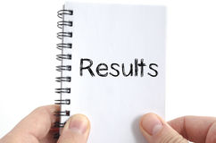 Results text concept Stock Photo