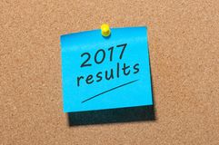 2017 results. Time to summarize and plan goals for the next year. Business background Royalty Free Stock Photography