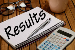 Results word Stock Photo