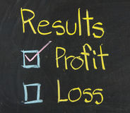 Results, written on a blackboard. Royalty Free Stock Image