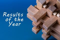 Results of the year. Year review concept. Time to summarize and plan goals for the next year.  stock image