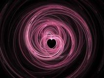 Corazón abstracto del fractal foto de archivo libre de regalías