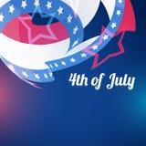Resuma el 4 de julio ilustración del vector