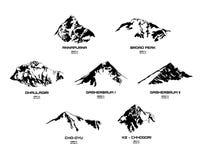 Resuma el ejemplo de eight-thausanders, parte I del vector Fotografía de archivo