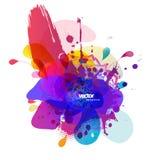 Resuma el fondo coloreado de la flor con los círculos y la mandala libre illustration