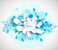 Resuma el fondo coloreado de la flor con los círculos y la mandala Imágenes de archivo libres de regalías