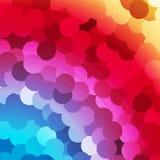 Resuma el fondo de los círculos del arco iris Fotos de archivo libres de regalías