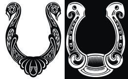 Resuma el icono de herradura aislado en el fondo blanco y negro para el diseño del sitio web, aplicación móvil, logotipo, ui Imagen de archivo