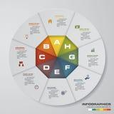 Resuma el 2.o ejemplo Infographic Elementos infographic de los pasos del extracto 8 Ilustración del vector Foto de archivo libre de regalías