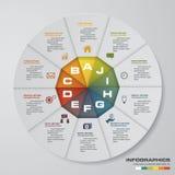 Resuma el 2.o ejemplo Infographic Elementos infographic de los pasos del extracto 10 Ilustración del vector Fotos de archivo