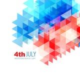 Resuma el 4to del diseño de julio ilustración del vector