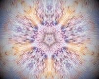 Resuma la estrella echada a un lado sacada del ejemplo 5 de la mandala 3D Fotos de archivo libres de regalías