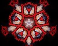 Resuma la estrella echada a un lado sacada del ejemplo 5 de la mandala 3D Fotografía de archivo
