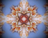 Resuma la estrella echada a un lado sacada del ejemplo 4 de la mandala 3D Imagenes de archivo