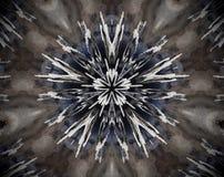 Resuma la estrella echada a un lado sacada del ejemplo 5 de la mandala 3D Imagen de archivo
