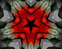Resuma la estrella echada a un lado sacada del ejemplo 5 de la mandala 3D Foto de archivo