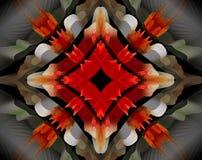 Resuma la estrella echada a un lado sacada del ejemplo 4 de la mandala 3D Foto de archivo libre de regalías
