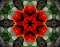 Resuma la estrella echada a un lado sacada del ejemplo 6 de la mandala 3D Fotografía de archivo