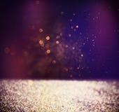 Resuma la foto borrosa de la explosión y de las texturas de la luz del bokeh Luz multicolora Fotografía de archivo