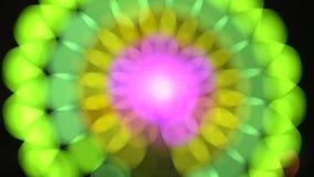 Resuma la iluminación borrosa de las luces de la atracción almacen de video