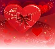 Resuma a la tarjeta del día de San Valentín Imagen de archivo