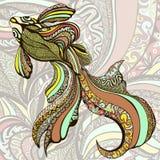 Resuma los pescados coloridos Pescados decorativos de una variedad de ornamentos del color Foto de archivo libre de regalías