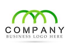 Resuma semi los diseños formados círculo del vector del icono del símbolo del logotipo de la unión para la empresa de negocios en stock de ilustración