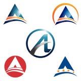 Resuma un negocio Logo Template Bundle Set de la letra ilustración del vector