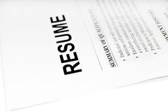 Resume Stock Images