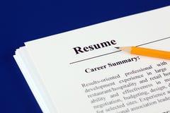 resume Immagini Stock